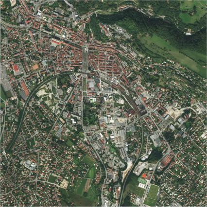 Vue aérienne de Voiron en 2012