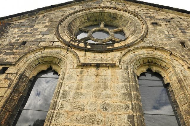 Chevet de l'abbatiale de Mégemont