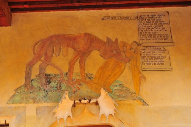 Peinture et le dit de la Chicheface datant du début du 16e siècle