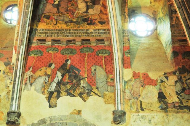 Scène centrale du mur nord, combat de Branor le Brun et Karados