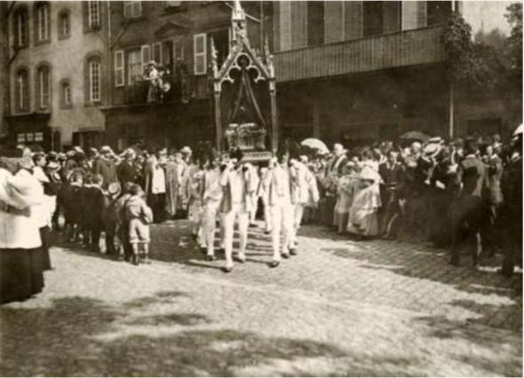 Procession de la Saint-Amable photo ancienne