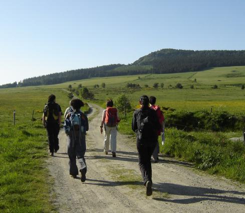 Pèlerins sur le chemin de Saint-Jacques-de-Compostelle