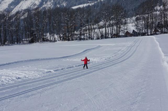 Skieur sur le domaine nordique de la vallée d'Abondance