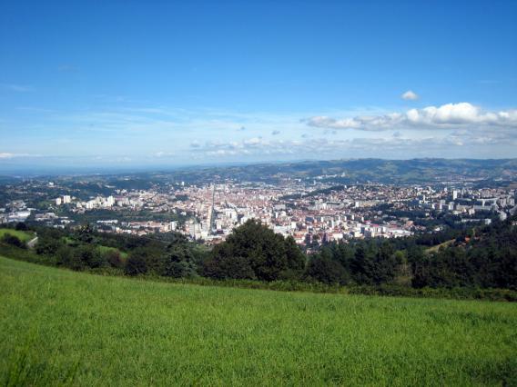 Vue de Saint-Etienne depuis le Guizay
