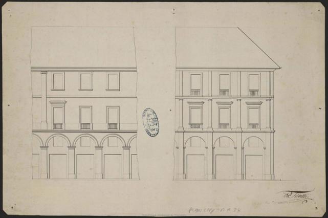 Projet de façades des bâtiments de la rue de Boigne