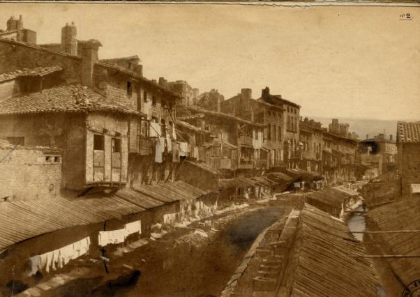 Le quartier des Gauds en 1856