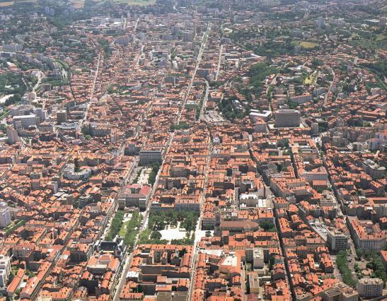 Vue aérienne de Saint-Etienne