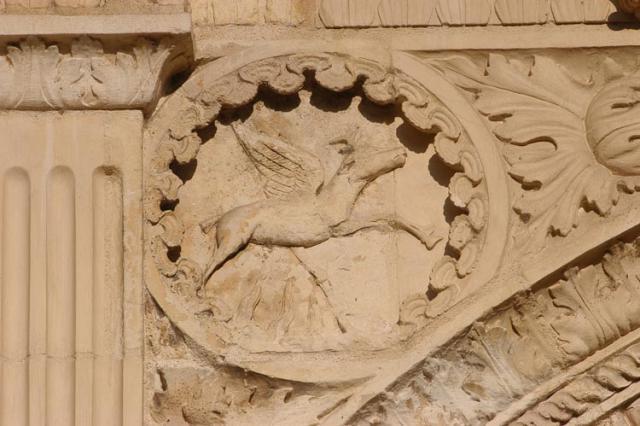 Pavillon Anne de Beaujeu, écoinçon au cerf ailé, symbole du Bourbonnais