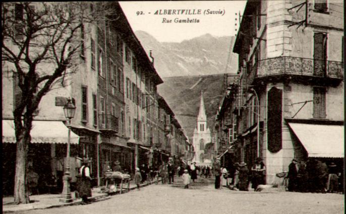 Rue Gambetta, début 20e siècle