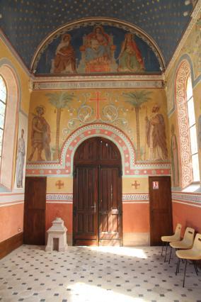 L'intérieur de la chapelle des papetiers