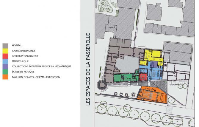 Plan de l'espace culturel actuel