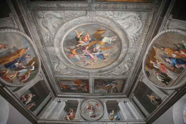 Rémy Vuibert, plafond peint du chœur des religieuses, chapelle de la Visitation