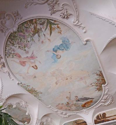 Le plafond peint du Grand Café
