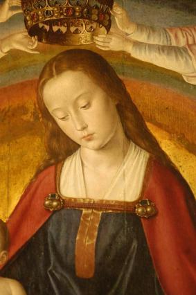 Retable ouvert, panneau central, la Vierge en Gloire