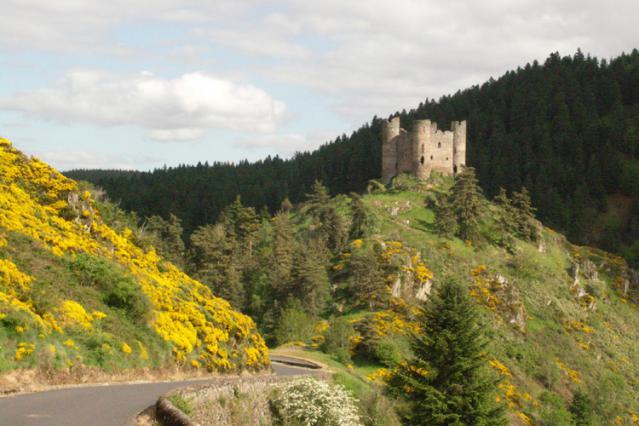 Château d'Alleuze sur son promontoire