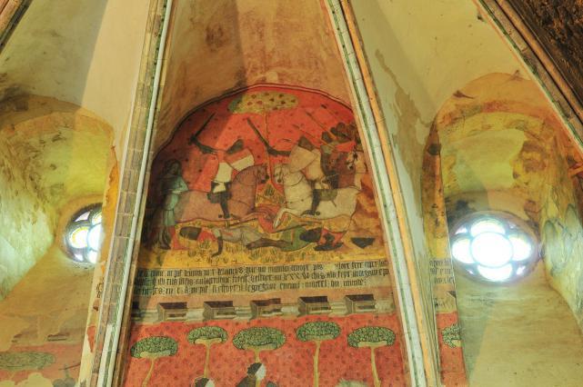Scène centrale du mur nord, partie haute