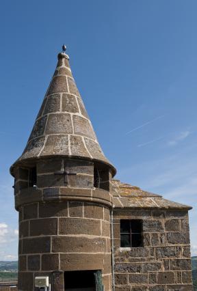 Tourelle du donjon, forteresse de Polignac