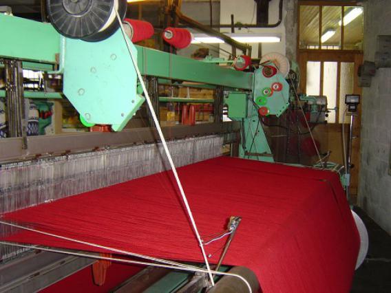Filature Arpin, métier à tisser
