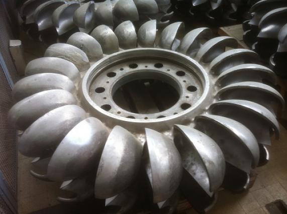 La Bâthie, turbine Pelton