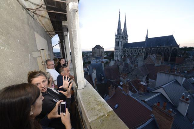 Vue sur la cathédrale et la Mal Coiffée depuis la balustrade du Jacquemart