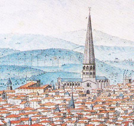 Vue de Legay, détail de Saint-Amable