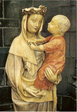 Vierge à l'oiseau, église Notre-Dame du Marthuret