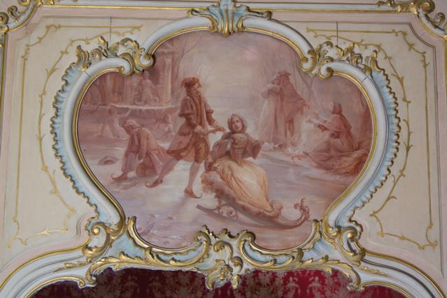 Dessus de porte l'hiver, chambre des quatre saisons. Collection musée Anne-de-Beaujeu