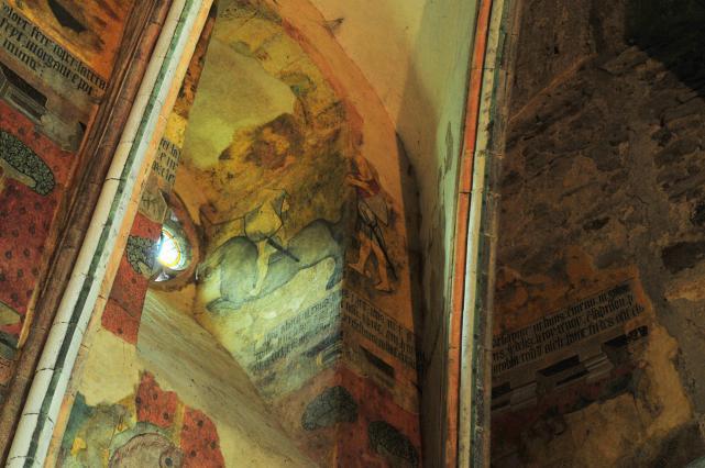 Décors peints dans les ébrasements de baies