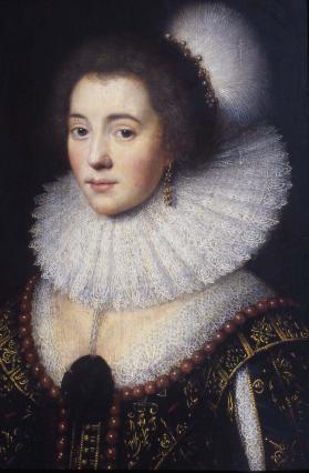 Amalia Solms, épouse de Frédéric de Nassau, atelier de van Mierevelt, 17e siècle