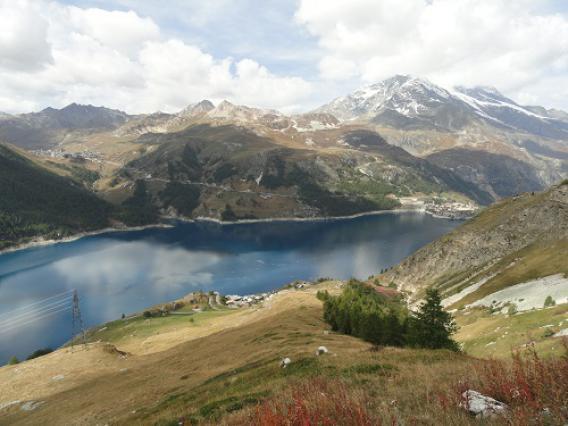 Barrage de Tignes, vue générale