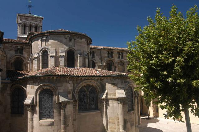 Détail du chevet de la cathédrale Saint Apollinaire