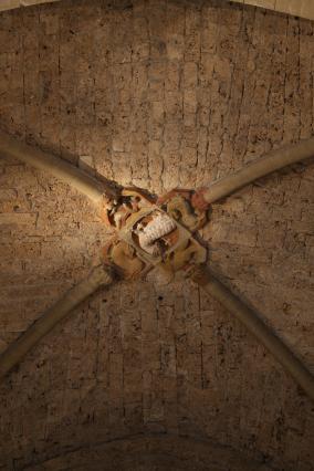 La clé de voûte de l'église de Chalais