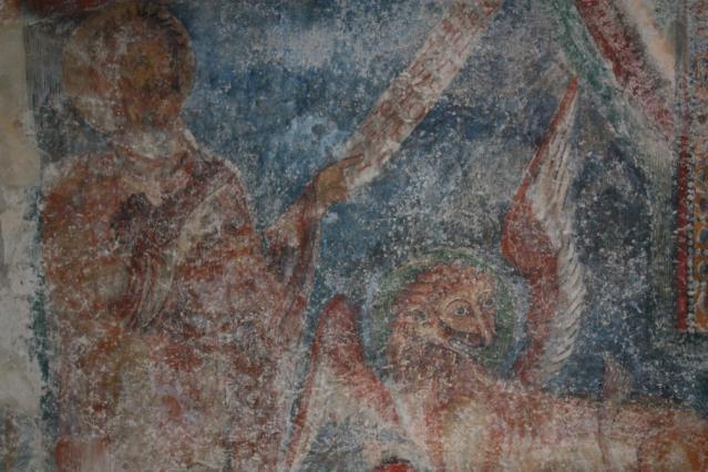 Fresque de Saint Marc et son lion, intérieur du prieuré