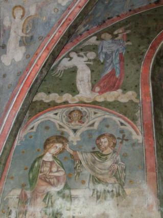 Couronnement de la Vierge, chapelle des Aycelin collégiale Saint-Cerneuf