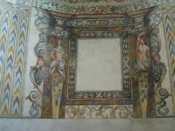 Villargerel, détail décor peint
