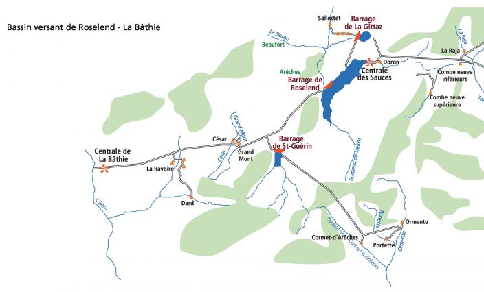 Schéma aménagement Roselend-La Bâthie
