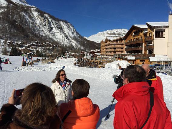 Val d'Isère, front de neige