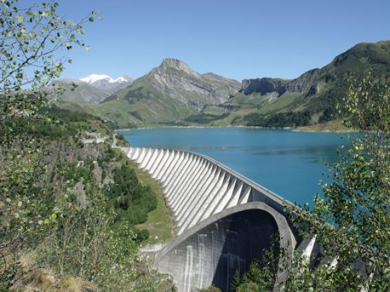 Barrage de Roselend (vue générale du barrage)