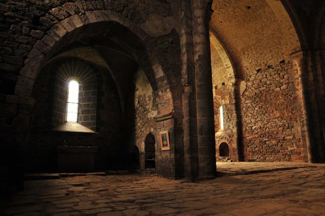 Vue intérieure de l'abbatiale