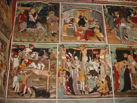 Bessans, chapelle Saint-Antoine, peintures intérieures