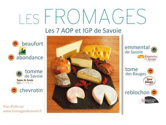 Fromages AOP et IGP Savoie