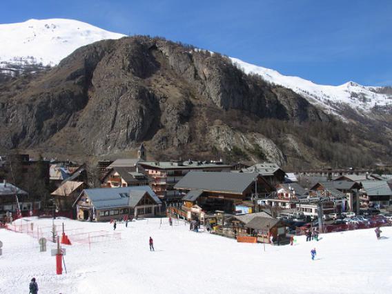 Valloire, front de neige