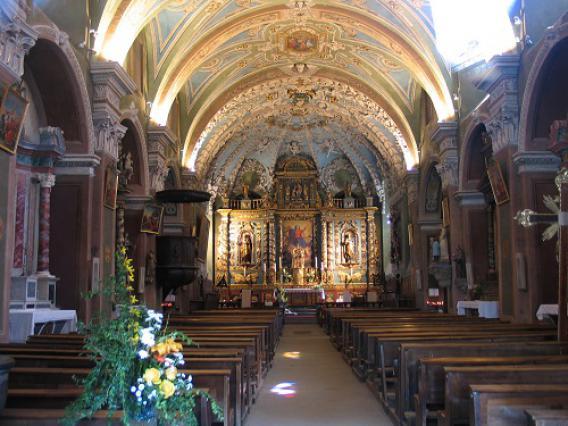 Valloire, intérieur de l'église baroque