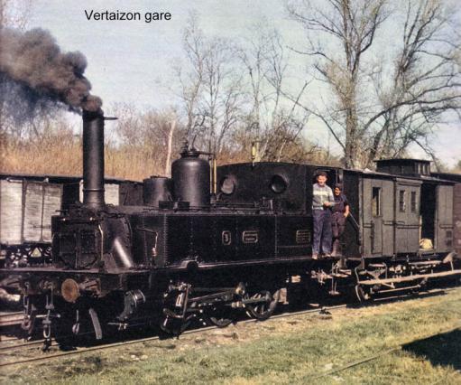 Tracé de la ligne de train de Vertaizon à Billom