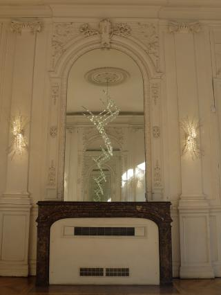 Lustre, Géraldine Gonzales, salon d'honneur, hôtel Dufraisse