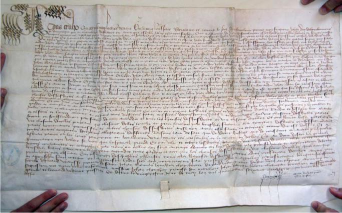 Prix-fait pour la châsse de Jean Adam, 1474