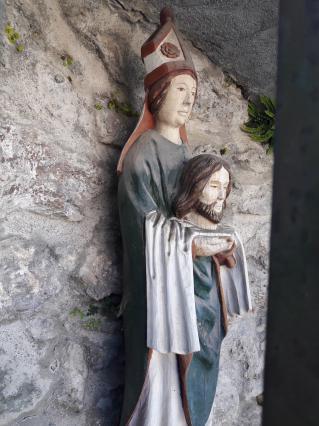 statue de saint Grat à l'extérieur de l'église - Conflans