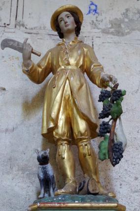 Statue de saint Verny dans l'église de Bansat