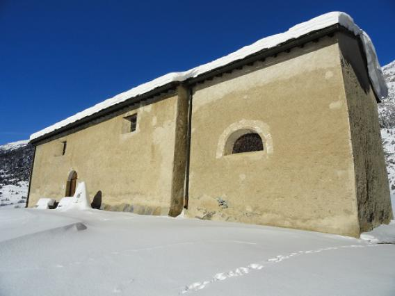 Lanslevillard, chapelle Saint-Sébastien, vue extérieure