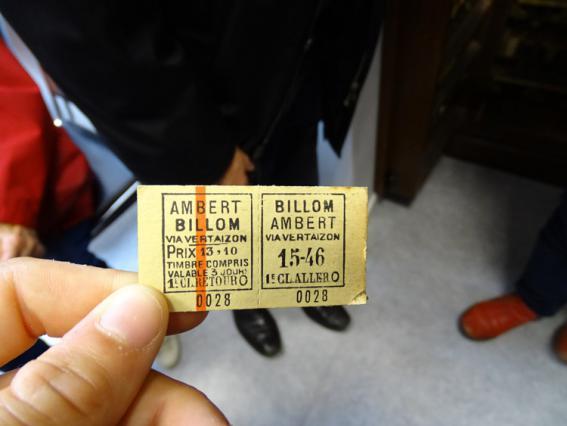 Ticket de voyageurs